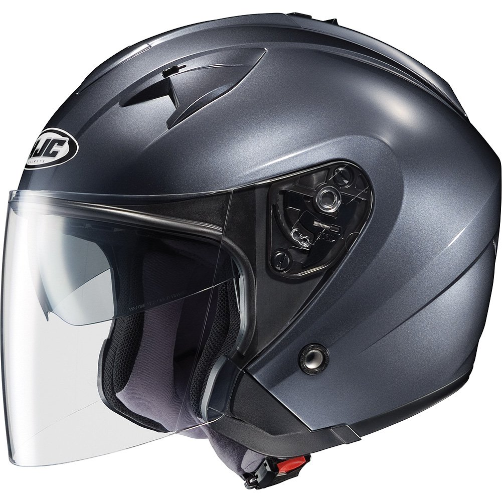 best motorcycle helmets, HJC Metallic IS-33 Half (1/2) Shell Motorcycle Helmet - Anthracite / 2X-Large