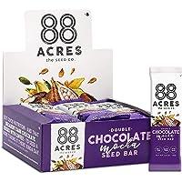 88 Acres, Double Chocolate Mocha Seed Granola Bar, Gluten-free, Nut-free, Non-GMO, Vegan, School Safe (1.6 Oz, 12 pack)