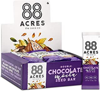 product image for 88 Acres Granola Bars | Dark Chocolate Mocha | Gluten Free, Nut-Free Oat and Seed Snack Bar | Vegan & Non GMO | 12 Pack