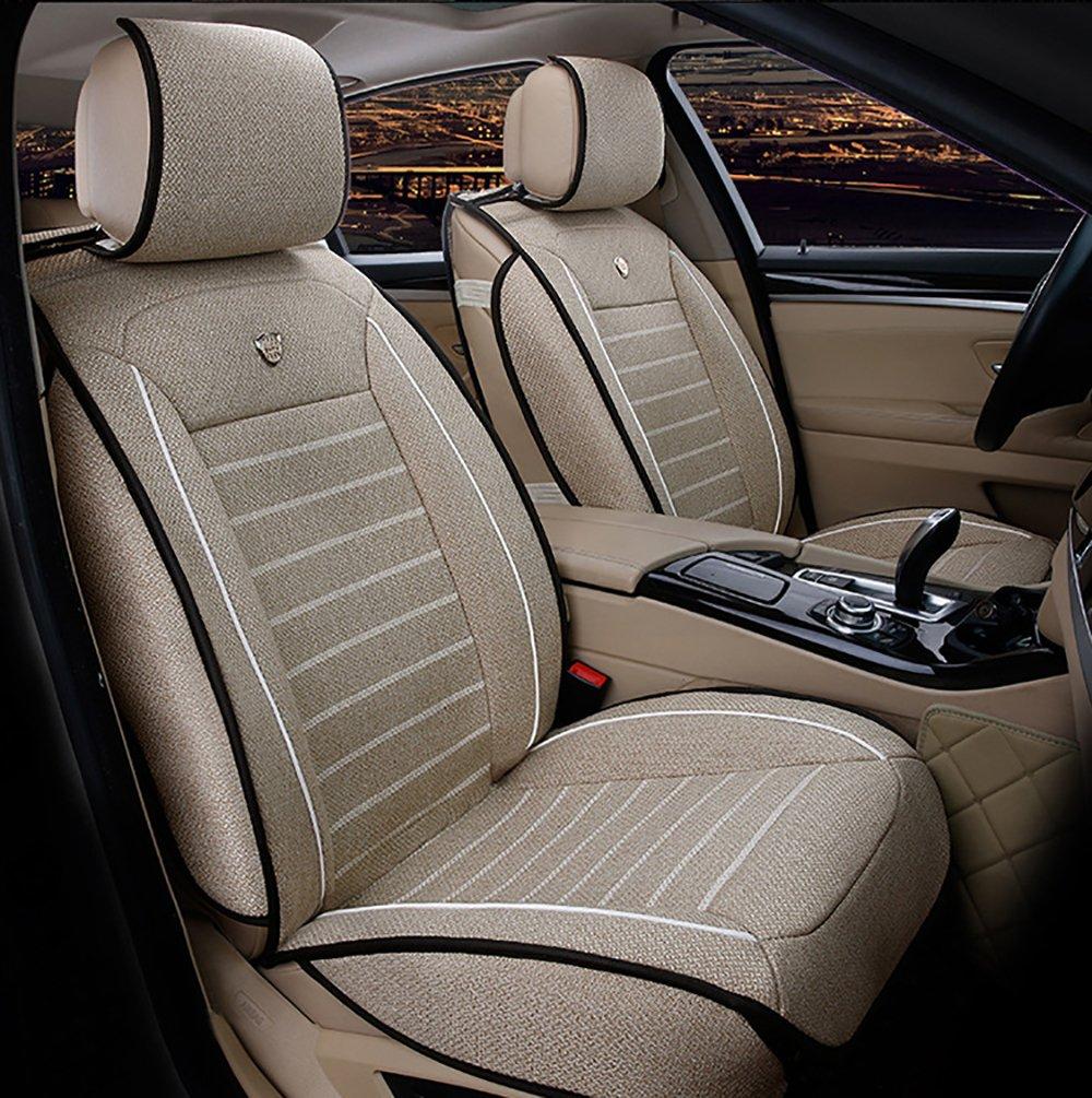 Amazon.es: FREESOO Juego de fundas para asientos delanteros trasero completo de coche Cubierta Cojines de asiento para 5 asientos Vehículo universal 7 ...