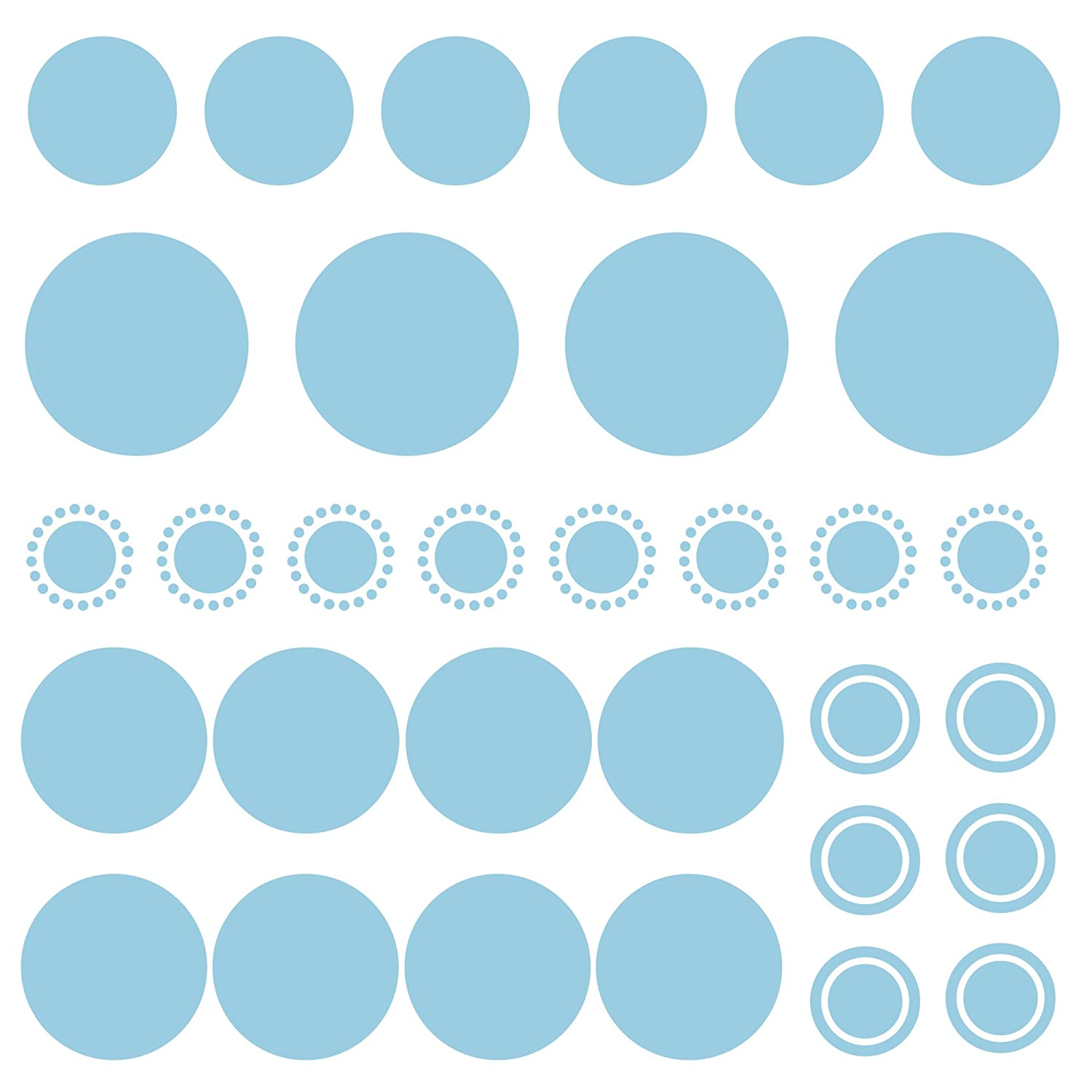 Bobee Polka Dot Wall Decals Peel And Stick Confetti Wall Stickers, Light  Blue   Baby Products   Amazon.com