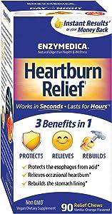 Enzymedica, Heartburn Relief, Dietary Supplement to Help Soothe Indigestion, Vegan, Non-GMO, Vanilla Orange, 90 Chews (45 Servings)