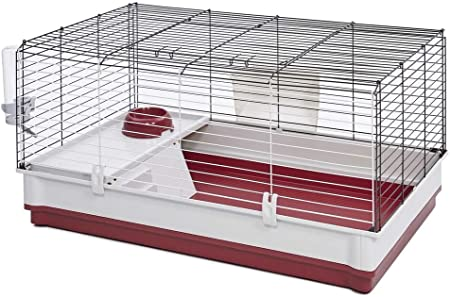 Amazon Com Midwest Homes For Pets 158 Wabbitat Deluxe Rabbit Home Rabbit Cage 39 5 L X 23 75 W X 19 75 H Inch Pet Supplies