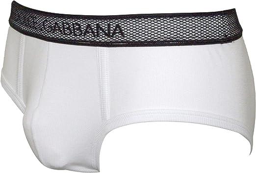 Details about  /Dolce /& Gabbana Low-cut Logo Men/'s Brando Brief Black//white