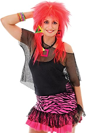 Black 80s Punk Rock Mesh Fishnet Top (disfraz): Bristol Novelty ...