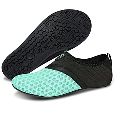 5dc9bbb8ae8c7 Msjenny Water Shoes Quick Dry Barefoot Sports Aqua Socks Beach Pool Swim  Surf Yoga Shoes for