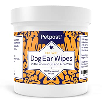 Petpost Coconut Oil Wipes Dog Ear Cleaner