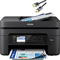 Premium Epson Workforce WF 2800 Series All-in-One Color Inkjet Printer I Print Copy Scan Fax I Wireless I Mobile…