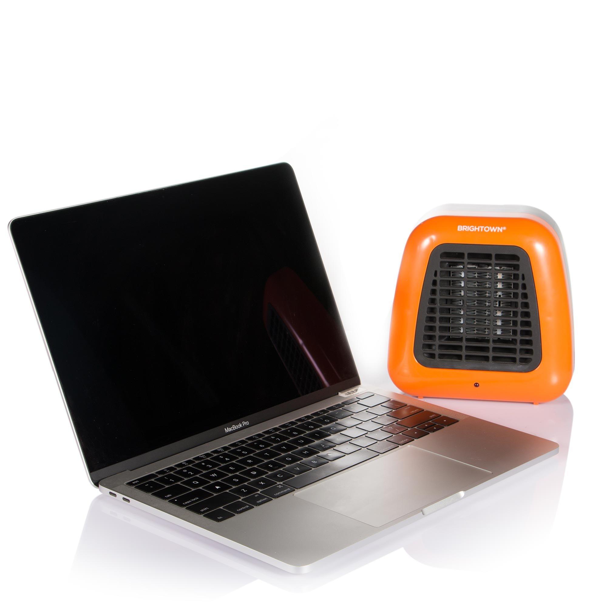 Personal Ceramic Portable-Mini Heater for Office Desktop Table Home Dorm, 400-Watt ETL Listed for Safe Use, Orange by Brightown (Image #6)