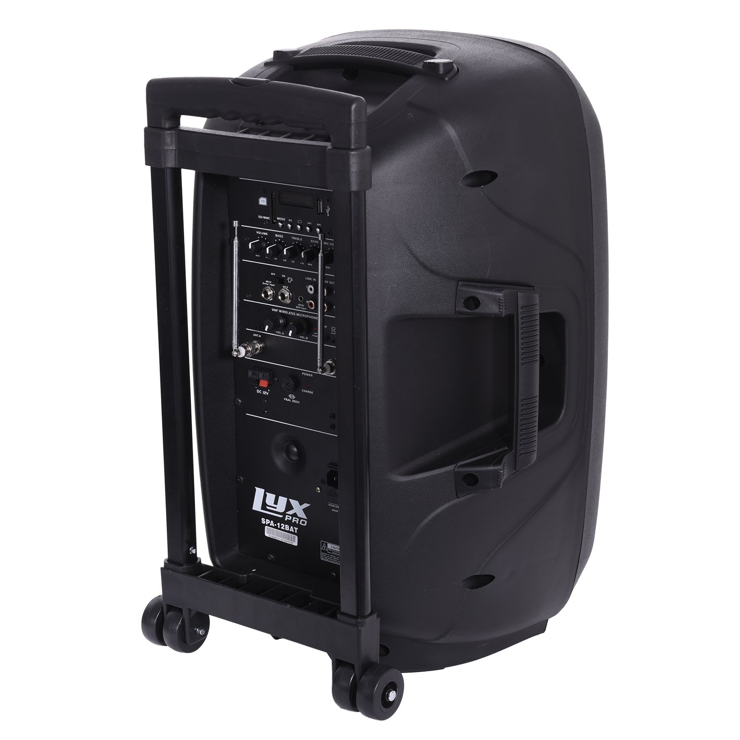LyxPro SPA-12BAT Battery Powered Active Speaker Portable PA System Built In EQ & Rechargeable Battery, Bluetooth, MP3, USB, SD, 1/4'', 3.5mm by LyxPro (Image #6)