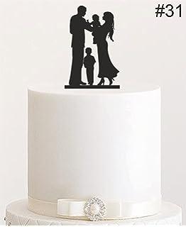 Tortenaufsatz Aus Acryl Brautpaar Mit 2 Kindern Junge Und Madchen