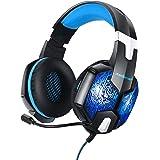 Redlemon Audífonos Gamer Pro con Luz LED RGB, Sonido High Definition 360°, Micrófono con 120° de Movimiento, Diadema Ajustabl
