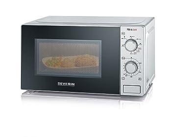 Severin MW 7896 - Microondas de 700 W, con función grill 2 en 1 de