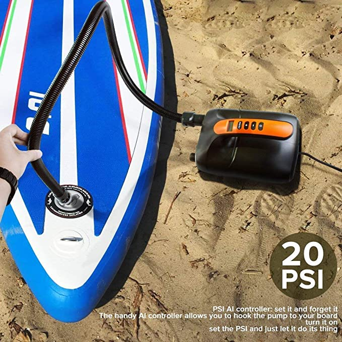 Deflation Function Boats 12V DC Car Connector Intelligent Dual Stage Inflation /& Auto-Off Feature for Inflatable Stand Up Paddle Boards Oyria 20PSI High Pressure SUP Air Pump