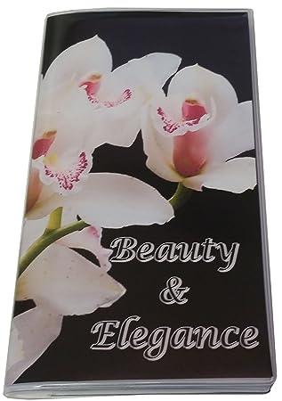 new concept fda6c 587ac Amazon.com : Orchids Checkbook Cover with Register & Photo Insert ...