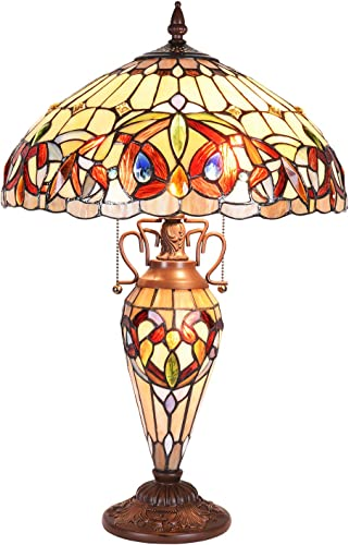 Tiffany Lighting Lamp, Capulina Handcrafted 16 Tiffany Glass Lamp Shades, Tiffany Lamps for Bedrooms, Tiffany Lamp, Stained Glass Lamp, Stained Glass Desk Lamp – Gothic Stained Glass Style