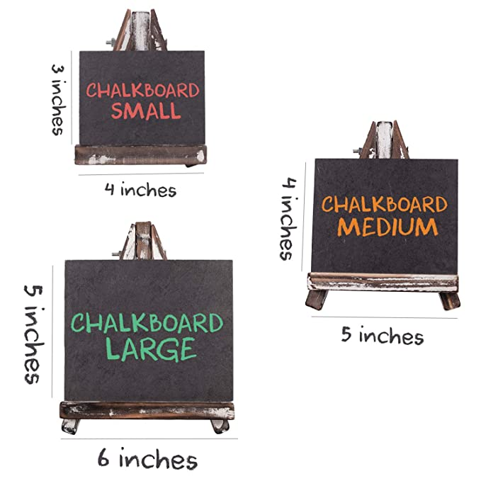 Amazon.com: Mini pizarra para mesas de comida, tarjetas de ...