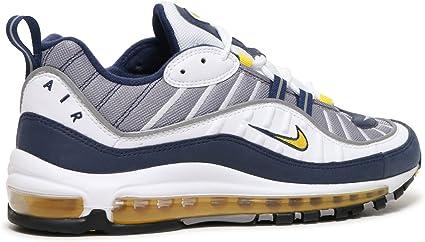 Amazon.com: Nike Air Max 98, blanco/amarillo turístico/azul ...