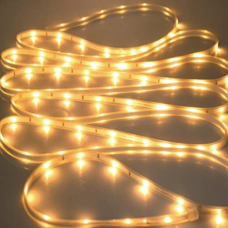 Amazon.com: Solar Strip Lights Outdoor,YAOXI Waterproof 16.4ft/5M SMD2835 100Leds Copper Ribbon Rope Decorative Light for Garden Pathway Christmas Makeup ...