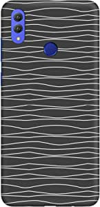 Stylizedd Huawei Honor 8X Max Slim Snap Basic Case Cover Matte Finish - Squiggly Lines