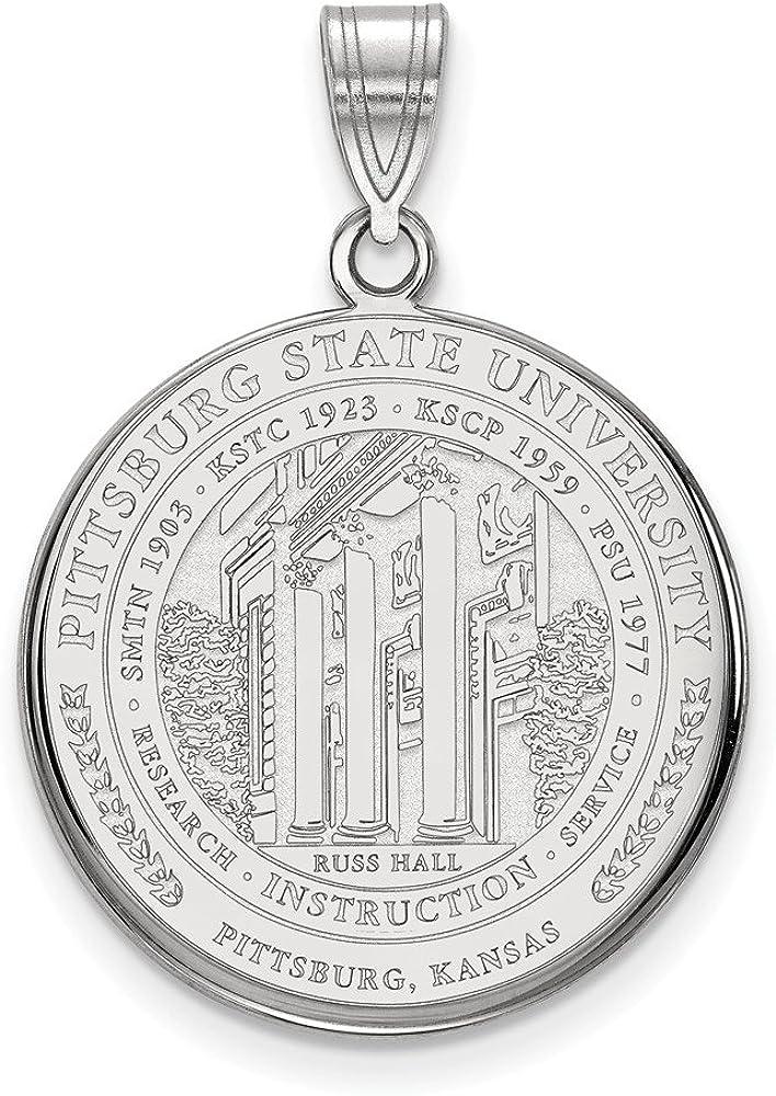 Sterling Silver Pittsburg State University Large Pendant by LogoArt