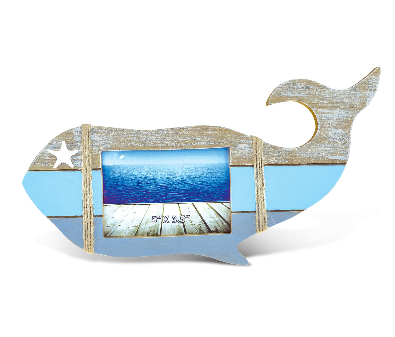 Puzzled Nautical Whale Shape Photo Frame 5