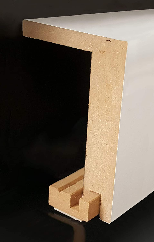 Verkleidung Rohrverkleidung Heizrohrabdeckleiste 96 x 64 mm 721.9664.31 -mit selbstklebendem Montageprofil -Wei/ß Heizrohr Abdeckung