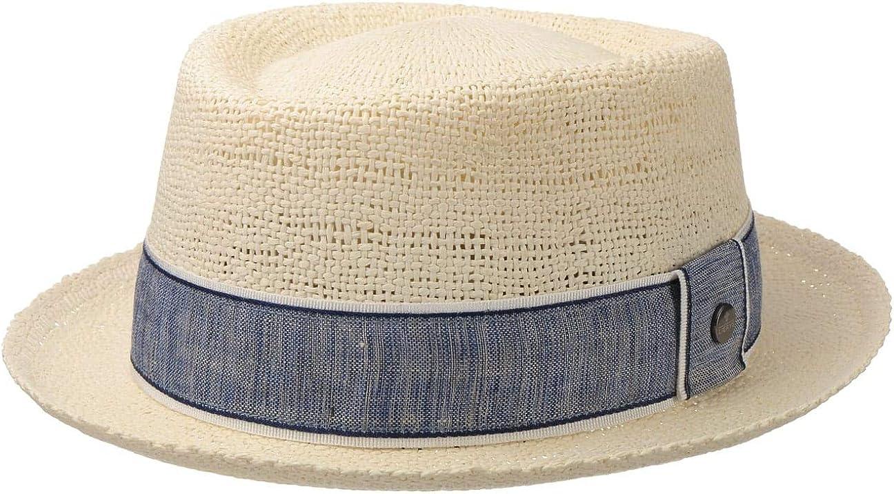 Lierys Sombrero de Paja Toyo Pork Pie Hombre - Sol Verano Primavera/Verano