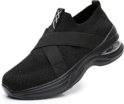 Mishansha Womens Trainers Mesh Slip on Casual Shoes with Double Air Cushion