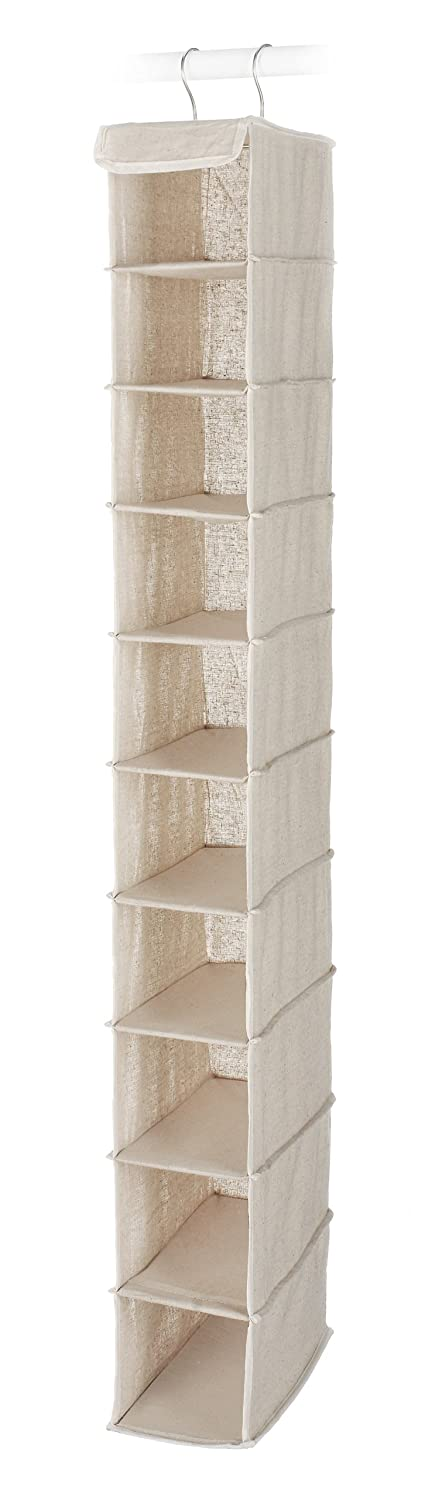Whitmor 6082-2664 Natural Linen Soft Storage Hanging Shoe Shelves