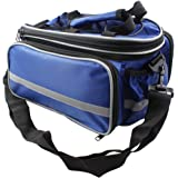 Bike Rear Seat Waterproof Multi Function Excursion Cycling Bicycle Trunk Bag Carrying Luggage Package Rack Panniers with Rainproof Cover(Blue) RUKEY