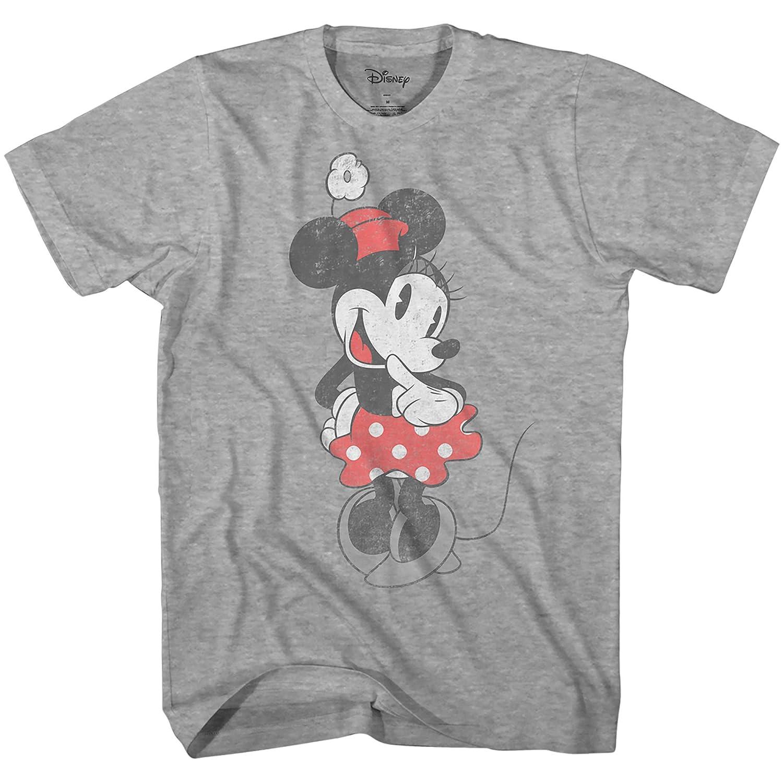7ac8df1b Amazon.com: Disney SHY Minnie Mouse Graphic Tee Classic Vintage ...