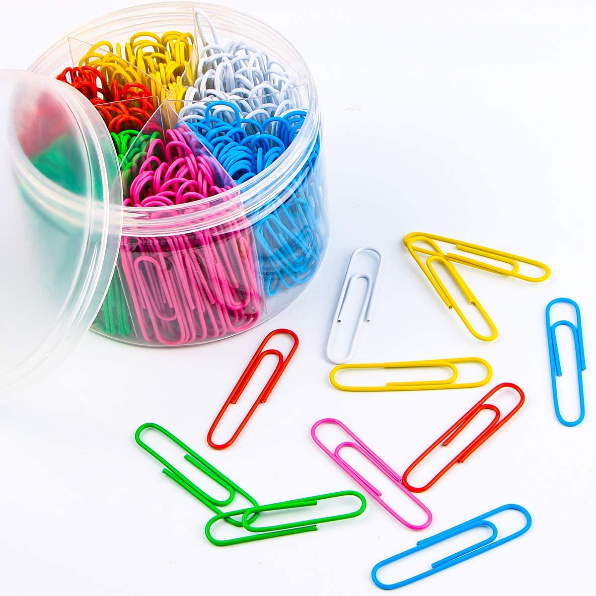 Paper Clips, 300 Pieces Colorful Paperclips 2 Inch Office Clips for School Personal Document Organizing and Classifying Professional Work (Jumbo Size)