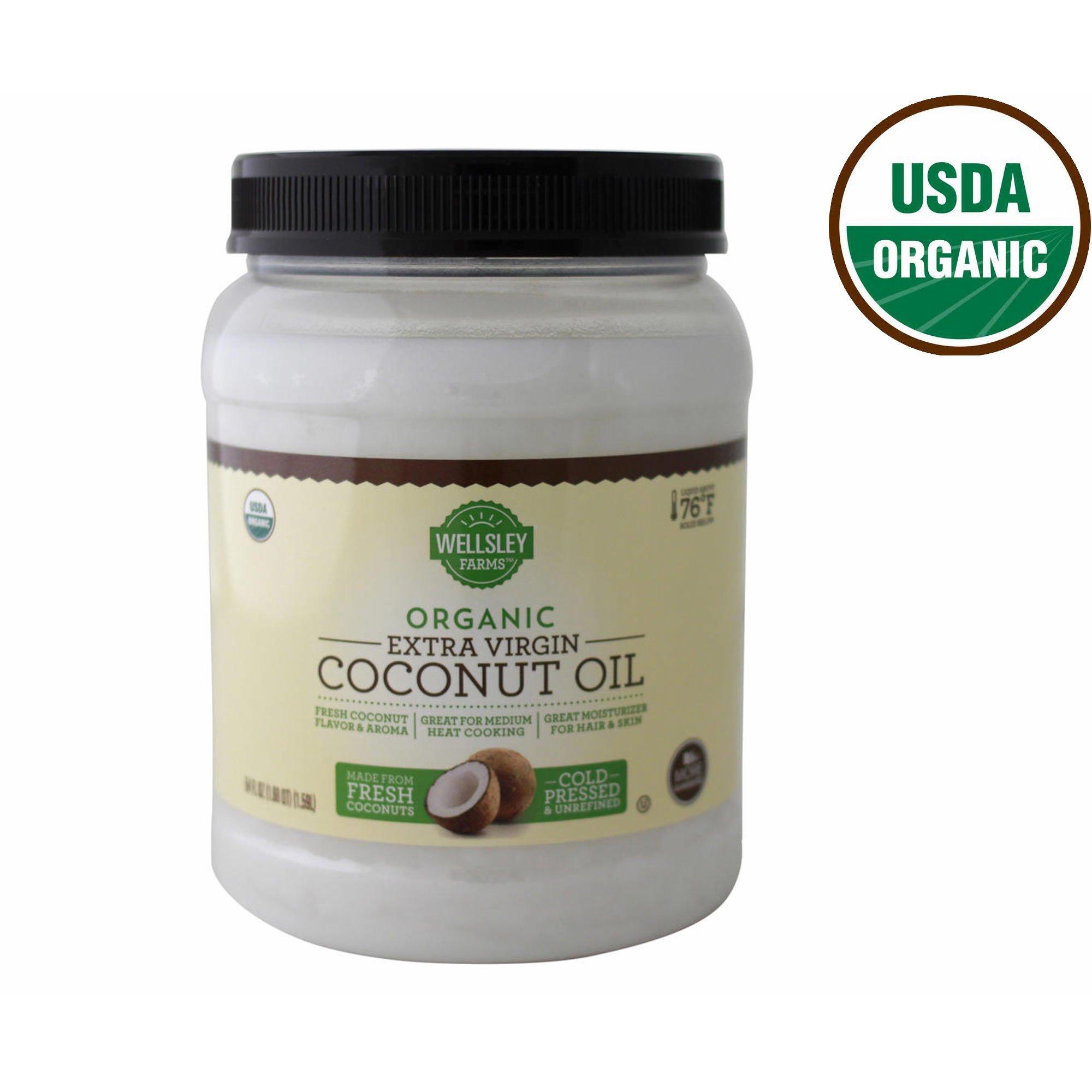 Wellsley Farms Organic Extra Virgin Coconut Oil, 54 oz. (pack of 6) by Wellsley Farms