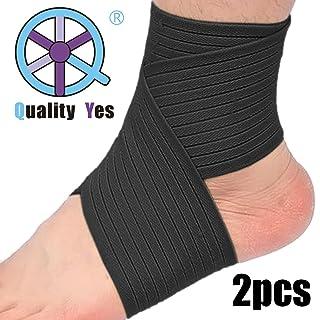 qy Lot de 2Cheville Support genou support support pour poignet-Noir