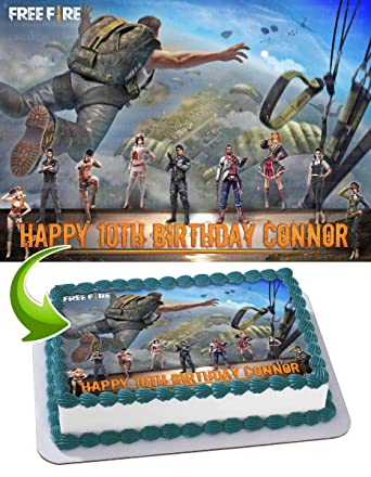 Garena Free Fire Edible Cake Topper 11 7 X 17 5 Inches 1 2 Sheet Rectangular Best Quality Printing Amazon Com Grocery Gourmet Food
