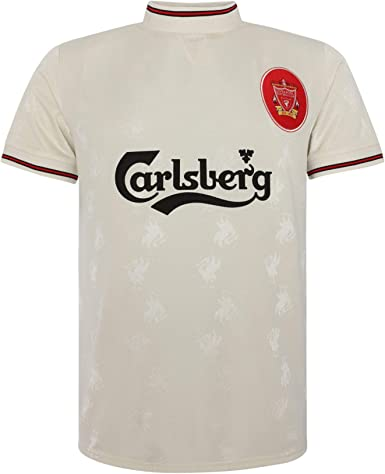 Liverpool FC Retro 96/97 - Camiseta Oficial Blanco - Medium ...