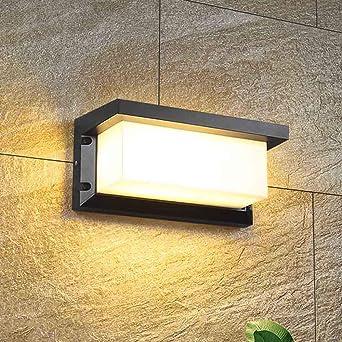 Mengjay Apliques de Pared LED 12W Lámpara Exterior Impermeable IP65 Luz de Aluminio Impermeable Iluminación en para Balcón, Jardín, Porche, Camino, Patio, Blanco cálido: Amazon.es: Iluminación