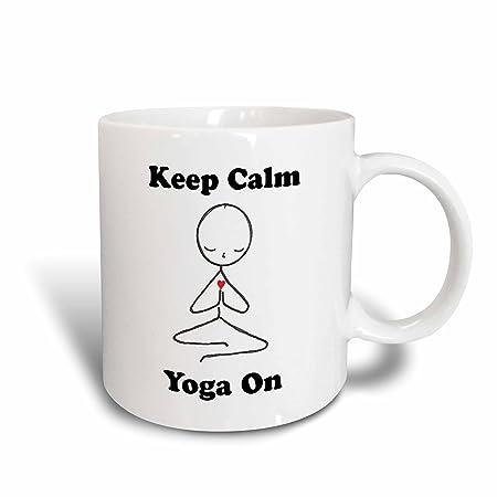 3dRose - Taza de Yoga con Texto en inglés Keep Calm Yoge, 11 ...