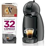 Dolce Gusto KP100BKP Nescafe Piccolo Macchina per Caffe Espresso e Altre Bevande, Antracite