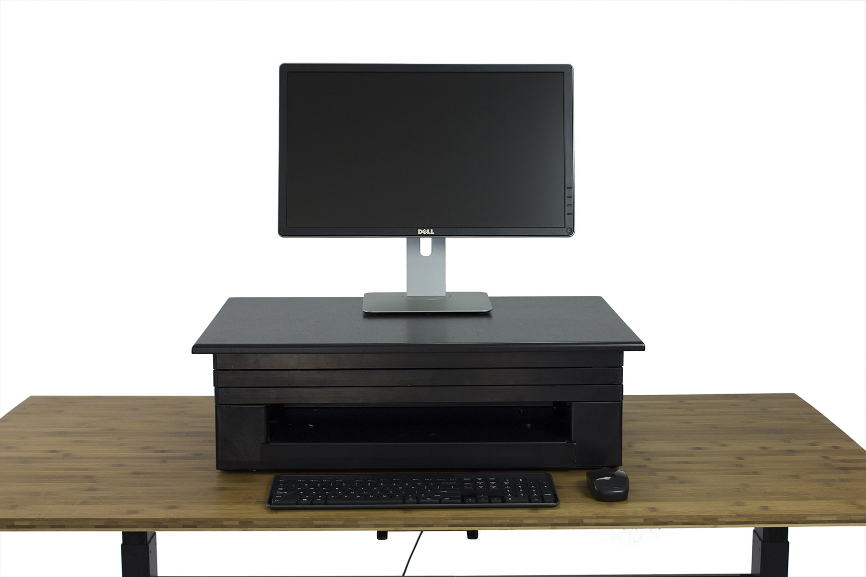 Uncaged Ergonomics Electric Change Desk, Height Adjustable Standing Desk Converter, Ergonomic Stand Up Desk Conversion Kit (CDE-b) by Uncaged Ergonomics (Image #6)