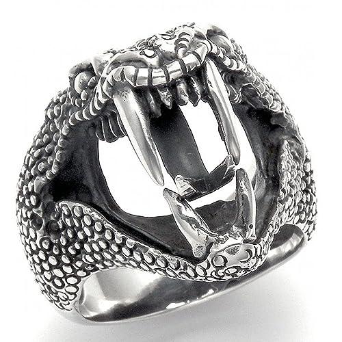 Amazon.com: Plata de ley cascabel anillo: Jewelry