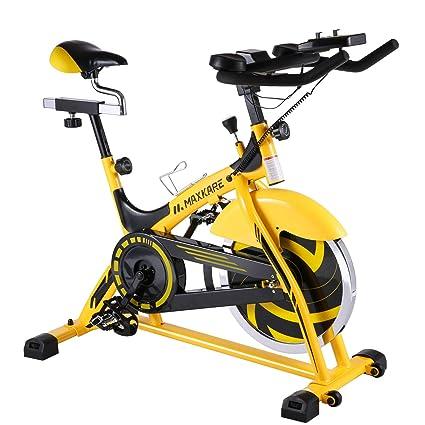 bf2130da7f5 MaxKare Indoor Cycling Bike Belt Drive Spin Bike with 44lbs Flywheel   Ipad  Mount Professional Stationary