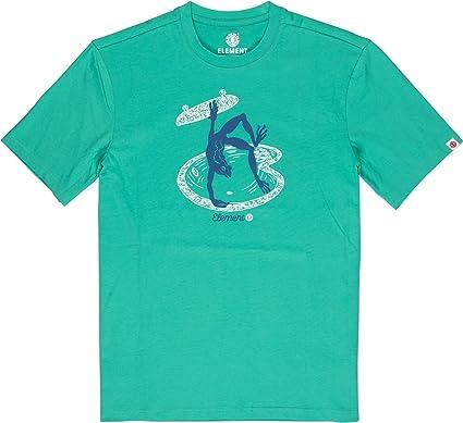 Element - Camiseta de Manga Corta - Hombre - L - Verde: Amazon.es: Ropa y accesorios