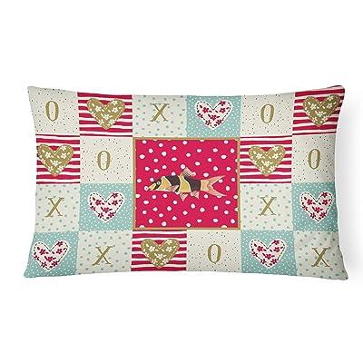 Caroline's Treasures CK5467PW1216 Clown Loach Fish Love Canvas Fabric Decorative Pillow, 12H x16W, Multicolor : Garden & Outdoor