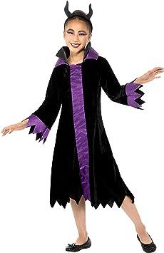 Smiffys 49704S - Disfraz de reina malvada para niña, color negro y ...