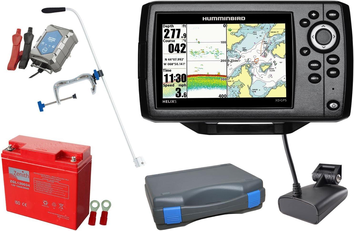 Hélice Humminbird sonar 5 XD GPS (50/200 kHz) portátil-conjunto ...