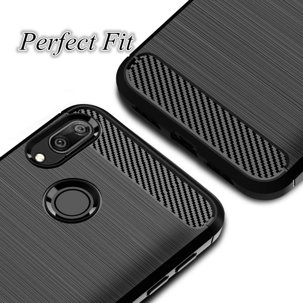 Coque-Etui-Housse-Silicone-brossee-Fibre-de-carbone-Noir-Protection-Huawei miniature 57