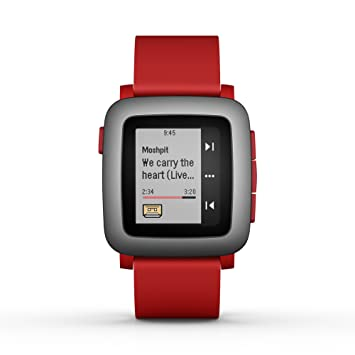 8a364e750d8831 Pebble Time Smartwatch for Smartphone - Red: Amazon.co.uk: Electronics