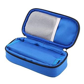 Estuche de insulina, bolsa de refrigerador diabética portátil de 3 colores, refrigerador de medicamentos para diabéticos a prueba de agua para viajar, bolsa de hielo no incluida(Azul): Amazon.es: Industria, empresas y ciencia